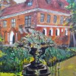 """""""Zamek Oporów - front"""", 32x24cm, akryl, 2016"""
