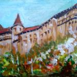 """""""Zamek Orawski - No. 1"""", 21x15cm, akryl, 2017"""