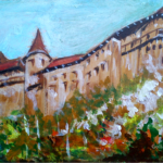 Orava Castle - No.1 (acrylic painting), 2017