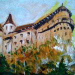 Orava Castle - No.2 (acrylic painting), 2017
