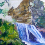 """""""Ruiny Diabelskiego Mostu w Czernej"""", 54x74cm, olej, 2017"""
