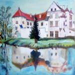 Szydlowiec Castle (acrylic painting), 2017