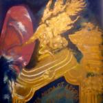 """Sentencja"", 74x54cm, akryl, 2018"