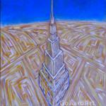 """""""Dzień"""", 35x30cm, akryl, 2016"""