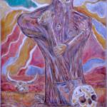 """""""Gorączka złota"""", 74x54cm, akryl, 2017"""