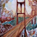 """""""Lustra wyobraźni"""", 74x54cm, akryl, 2016"""