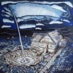 """""""Opatrzność"""", 74x74cm, akryl, 2017"""