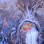 """""""Pomiędzy piekłem, a niebem"""", 74x54cm, akryl, 2016"""