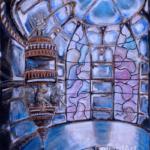 """""""Świątynia sztuki"""", 35x30cm, akryl, 2016"""