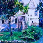 """""""Zamek Oporów"""", 35x24cm, akryl, 2016"""