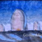 """""""Zmartwychwstanie"""", 29x21cm, akwarela, 2015"""