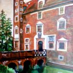 Wojnowice Castle (acrylic painting), 2017