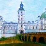 """""""Zamek Krasiczyn - front"""", 50x70cm, olej, 2018"""