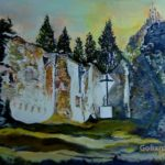 Ruins of the Church in Gruszczyn (oil painting), 2018
