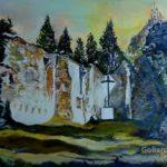 """""""Ruiny Kościoła w Gruszczynie"""", 50x70, olej, 2018"""